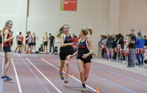 Girls Indoor Track wins District