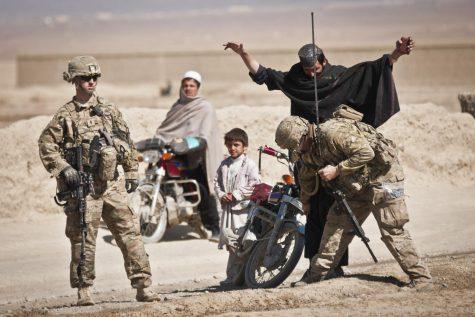 U.S., Afgan forces conduct checkpoint operations near COP Yosef Khel