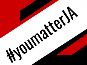 The Jonathan Alder hashtag #YoumatterJA graphic designed by Sophia Caouette.